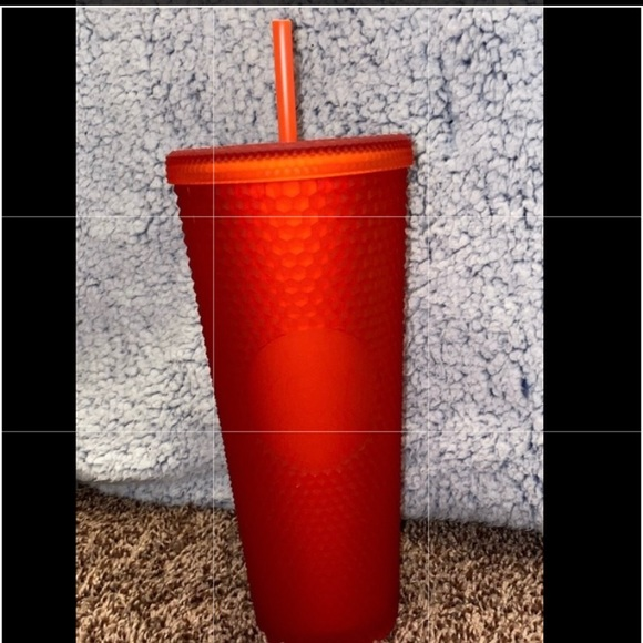 Matte red Starbucks Cups